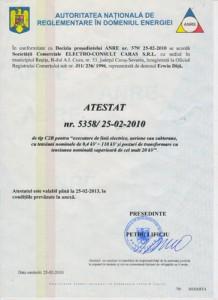 ATESTAT nr. 5358/ 25-02-2010